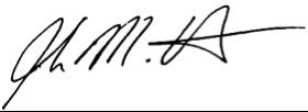 John's signature